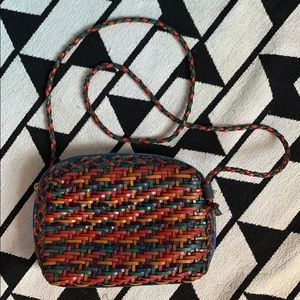 Vintage CEM Multi Color Leather Crossbody Purse